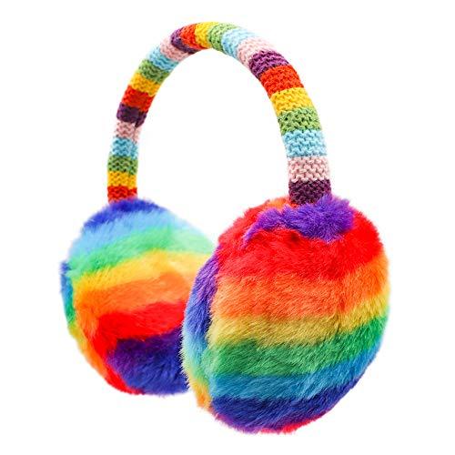 Kinder-Ohrenschützer, gestrickt, für den Winter, Outdoor, Plüsch, Ohrwärmer für Jungen und Mädchen, 4–16 Jahre - - Einheitsgröße