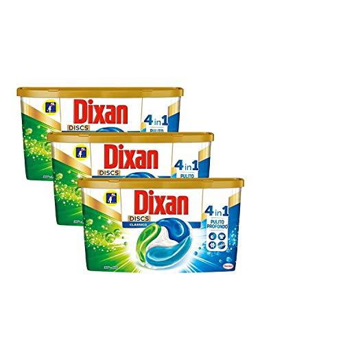 Dixan Discs Classic, Detersivo Lavatrice Predosato In Capsule, profumazione Classica, confezione da 3 x 36 Lavaggi