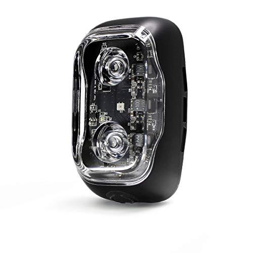 Hauteworks CLIQ - Luz trasera inteligente para bicicleta con LED más brillante, recargable por USB, control por teléfono inteligente, antirrobo, montaje universal, óptica avanzada y IA