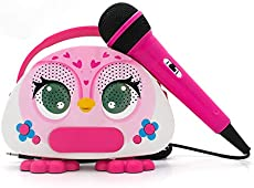 N\\A Kids Karaoke Machine with Microphone for Singing Rechargeable Bluetooth Karaoke Speaker Toy Microphone for Toddler Boys Girls FM Radio Children Singing Machine for Birthday Party