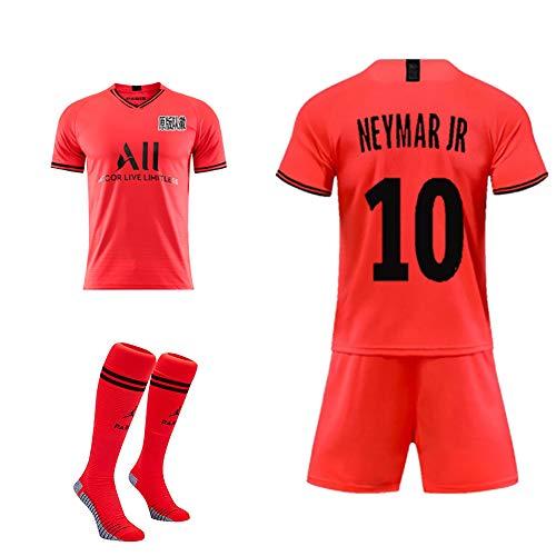 DEAN Sommer Paris Heim- und Auswärtsuniform MBAPPE # 7 Neymar JR # 10 Fußballuniform, Erwachsene Kinder Trainingsanzug + Socken, kann angepasst werden-Colour10-24