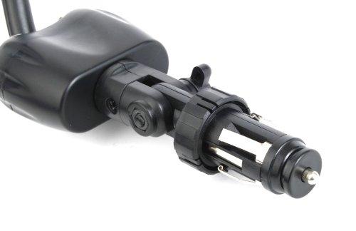 DURAGADGET Fixation 2 en 1 - Chargeur Allume Cigare + Base vis pour caméra embarquée/caméscope Sony AZ1VR Action Cam Mini avec Wi-FI, Energy Sistem Energy Sport Cam Play