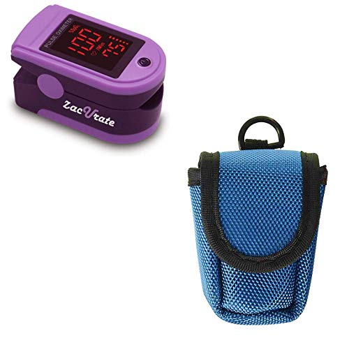 Zacurate Pro Series 500DL Fingertip Pulse Oximeter and Oximeter Carrying Case Bundle