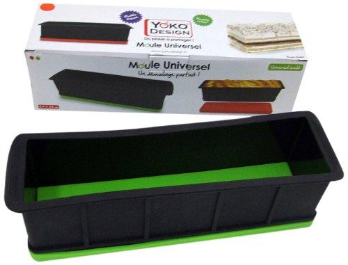 Yoko Design 1200 Moule Universel Silicone/Platine Noir/Base rouge 33 x 9 x 9 cm