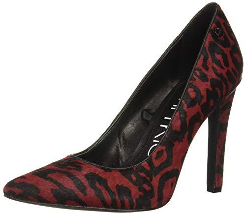 Calvin Klein Women's Brady Pump, barn red Leopard Hair Calf, 10 M M US