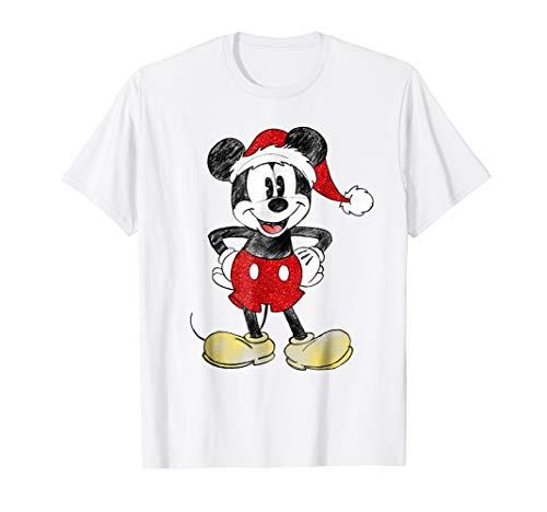 Disney Santa Mickey Mouse Christmas T Shirt
