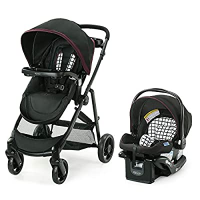 Graco Modes Element Travel System   Includes Baby Stroller with Reversible Seat, Extra Storage, Child Tray and SnugRide 35 Lite LX Infant Car Seat, Ainsley