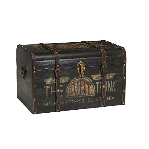 Household Essentials 9243-1 Large Vintage Decorative Home Storage Trunk