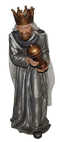 M.E.G. Kaarten & Geschenken Grote Wijze Man Holding Myrrh | Zeer Gedetailleerde Frost Resistant Thuis of Tuin Ornament | XRL-NT06