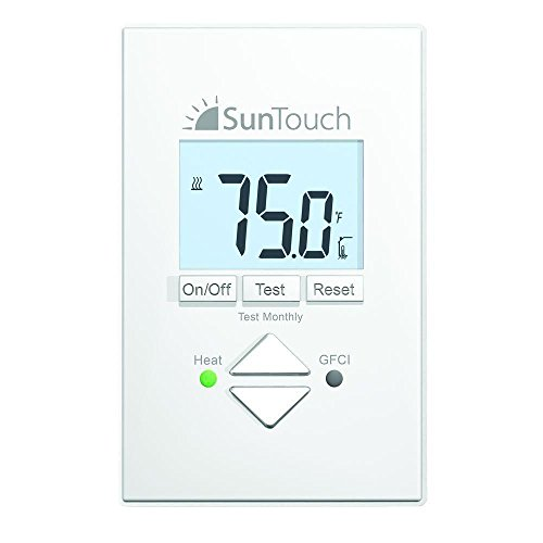 SunTouch SunStat Core Non-Programmable Thermostat for Floor Heating Systems, 4.63 x 2.95 x 1.65 inches, White