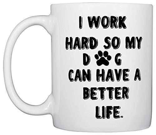 Funny Coffee Mug, Medium Mug Ideal Gifts for Dog Lovers, Dishwasher and Microwave Safe