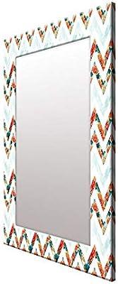 999Store Printed Rose Pattern Mirror