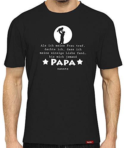 HARIZ Herren T-Shirt Papa Collection 36 Designs Wählbar Schwarz Vatertag Weihnachten Männer Geschenk Karte Urkunde Papa12 Bis Mich Jemand Papa Nannte L