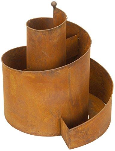 Posiwio dekorative Kräuter-Spirale Kräuter-Spindel Pflanz-Spirale Metall rostig Edelrost