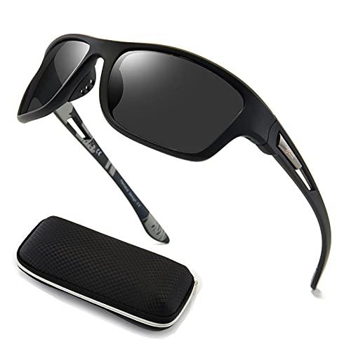 Polarisierte Sportbrille Sonnenbrille Herren fahrradbrille damen herren mit UV400 Schutz für Autofahren Laufen Radfahren Angeln Golf Sonnenbrille