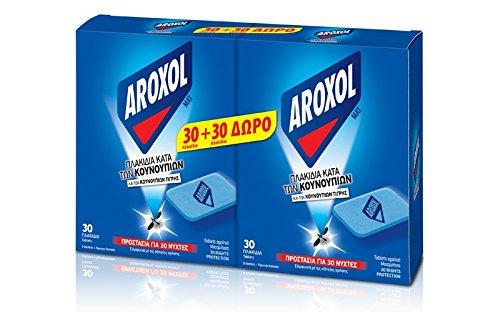 AROXOL matta 60 insektsavstötande tabletter motverkar myggor och myggor