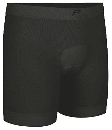 F-lite Body Cycling Boxer Sewn Upholstery Man Boxershorts, schwarz, L