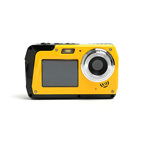 Iriisy Camara Acuatica Camara Sumergibles HD 2.7K 48MP, Cámara Impermeable Digital con Pantalla Dual, Zoom Digital 16X, 1080p HD Camara Acuática Submergible Anti-Vibración