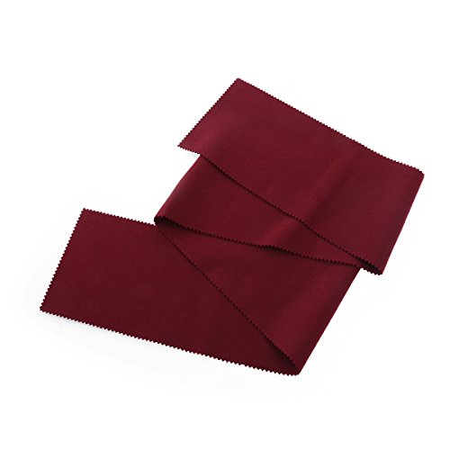 VORCOOL Copritastiera pianoforte panno 128 * 15cm tastiera pianoforte parapolvere (rosso)