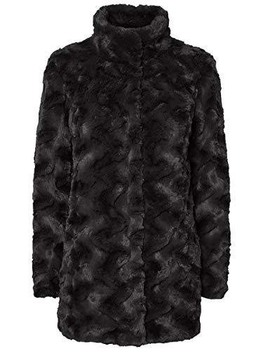 Vero Moda VMCURL High Neck Faux Fur Jacket col Giacca, Nero, XS Donna