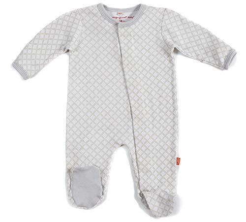 Magnificent Baby Baby Boys' Footies, Gray Diamond, Newborn (5-8 lb)