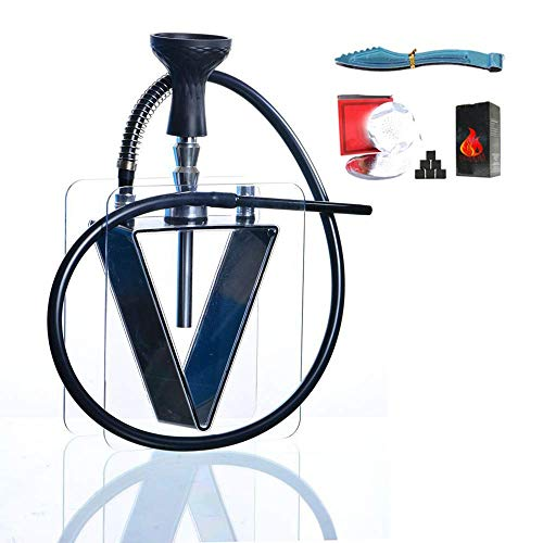XBR Luxus Shisha Set, Acryl Shisha Kit Set Acryl Shisha, mit Silikon Shisha Bowl Free Carbon Clip und Alufolie für das Beste rauchende Shisha Set