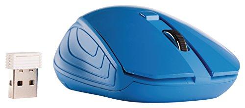 Eurosell Wireless Mouse - Funk Maus USB mit Nano Empfänger - blau