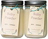 Candlecopia Baby Powder Strongly Scented Hand Poured Premium Soy Candles, 12...