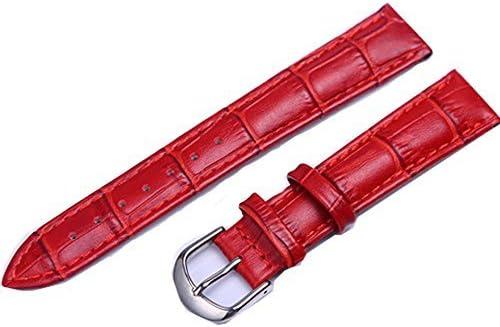 KOLIGHT Dark-Red Antiperspirant Durable Genuine Long-awaited trust Leather 18mm Buc