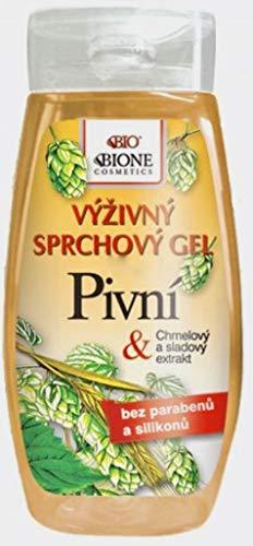 Bione 100% Bio/Vegan Bier-Duschgel mit Hopfen & Malz-Extrakte ohne Mineralöl, Silikone, Parabene, Sulfate!
