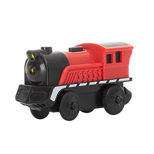 JAWSEU Juguete Tren Eléctrico, Locomotora ferroviaria Tren eléctrico Conectado Magnéticamente, Compatible con riel de Madera para niños Adultos