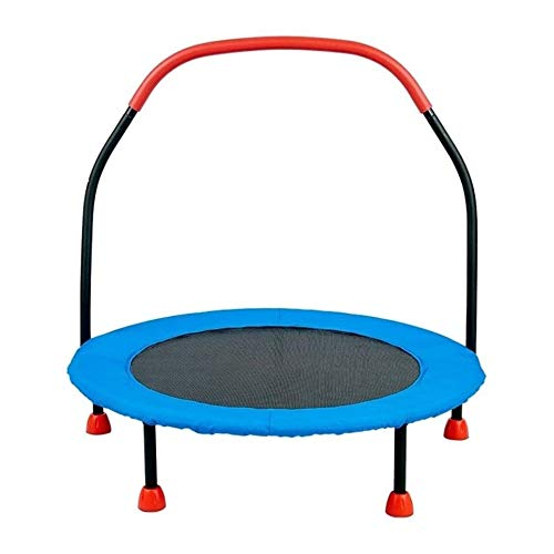 YYDD Bounce Jump Bed Indoor Trampoline with Handrail Increase Children Bounce Bed Best Home Gym