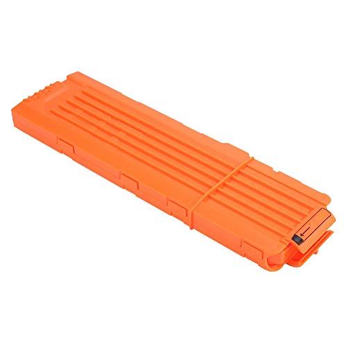 Foam Bullet Clip, sichere 18 Darts Soft Bullets Dart Gun Clips Schnellnachlademagazine Clip Cartridge Holder Universal für Toy Gun Games(Orangerot)