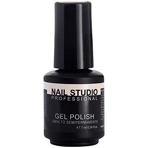 Nail Studio - Smalto per Unghie Professionale Gel Polish Semipermanente Mani e Piedi - Durata 4 Settimane - 39 Colori - Colore Light Nude 11