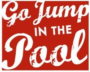 Not Branded KinfurtheGo Jump in The Pool Pool Decor Wooden Pool Sign