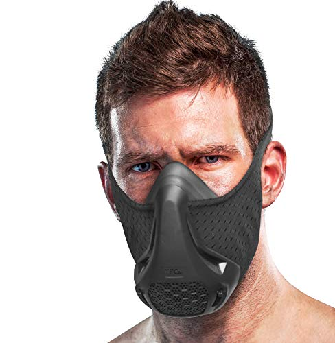 TEC Training Mask - 16 Breathing Levels, Maximizes Workout and Achieves Benefit of High Altitude Elevation Training for Running, Cycling, Boxing, HIIT; Increases Cardio, Endurance and Stamina