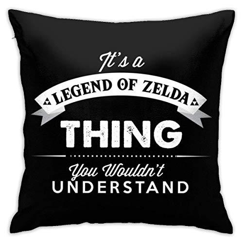 WH-CLA Couch Cushions Its A Legend of Zelda Thing Funda De Cojín Cojines De Sofá Sofá De Regalo Sofá Cremallera Duradera Dormitorio Oficina 45X45 Cm Fundas De Almohada Sala De Estar Acoge