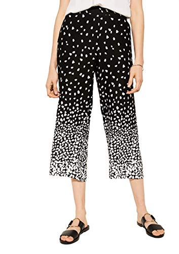 comma Casual Identity Damen Regular Fit: 7/8-Stoffhose Placed Print 40