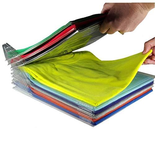 hong Wu 20 Pc-kreative Haupt Closet Kleidung Folder Organizer Hemd Ordner Dokumente Divider T-Shirt Organisationssystem