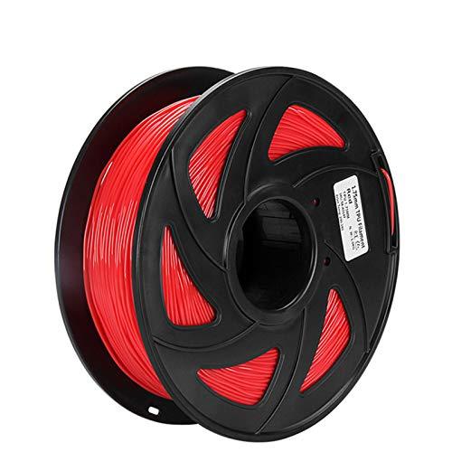 YANGDONG ABS/TPU/PLA-Filament, 1,75 Mm 1 Kg, 3D-Druckmaterial, Für 3D-Drucker, 3D-Stift, Plastik-PLA-Filamento, 3D-Druckerteile (Color : TPU Red)