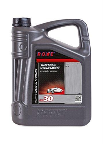 ROWE - 5 Liter HIGHTEC VINTAGE SAE 30 UNLEGIERT Motorenöl - Motoröl mineralisch für Oldtimer und Youngtimer