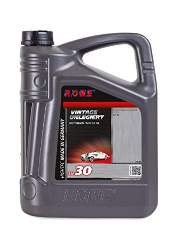 ROWE Hightec Vintage SAE 30 unlegiert - 5 Liter Oldtimer, Youngtimer Motoröl, mineralisch | Made in Germany