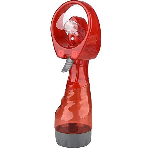 MU2827924 Sprühventilator Mano portátil de la Niebla del Agua del Ventilador del Ventilador de la Mano con el rociador de Agua Mini Ventilador de Mano aspersión de Agua para Sportstravel Beach,Rojo