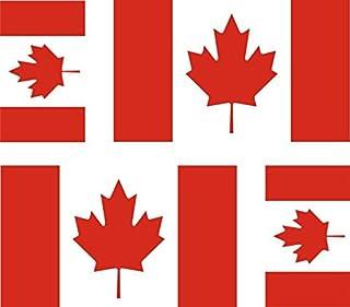 Akacha - 4 Adesivi Bandiera Canadese