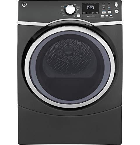 GE GFD45ESPMDG Front Load Steam Electric Dryer, 7.5 Cu. Ft. Capacity, Diamond Grey,