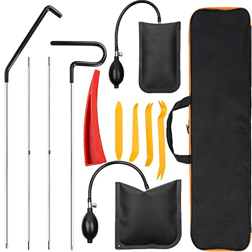 Anyyion Professional Car Tool Kit ,Easy Entry Long Reach Grabber, Air Wedge- Non Marring Wedge and Tool Bag