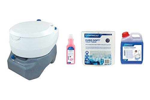 Campingaz Campingtoiletten-Kombi, Chemietoilette, chemische Toilette mit antimikrobiellem WC-Sitz und Schüssel für mehr Hygiene, Gartentoilette mit 20 L Abwassertank