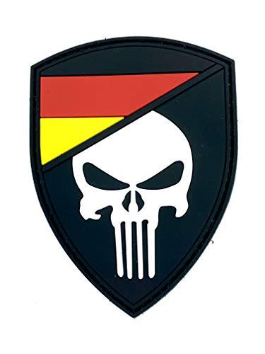 Deutscher Deutschland Flagge Punisher Im Dunkeln Leuchten Cosplay Airsoft PVC Klett Emblem Abzeichen Patch