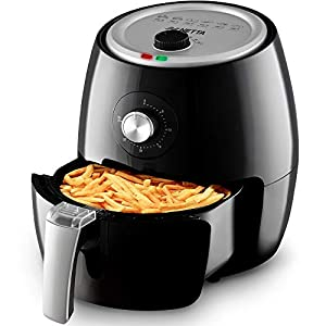 NETTA 3.5L Air Fryer | Adjustable Temperature Control and Timer | Detachable Basket | Rapid Air Circulation | Healthier Oil-Free Cooking at Home | 1500W | Black |