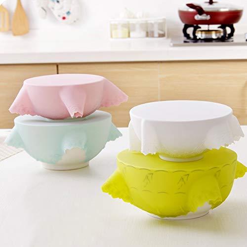 Appareils de Cuisine LGMIN 4 PCS Protection en Silicone de qualité Alimentaire Frais Couverture, Couleur aléatoire Livraison Nouveau Produit